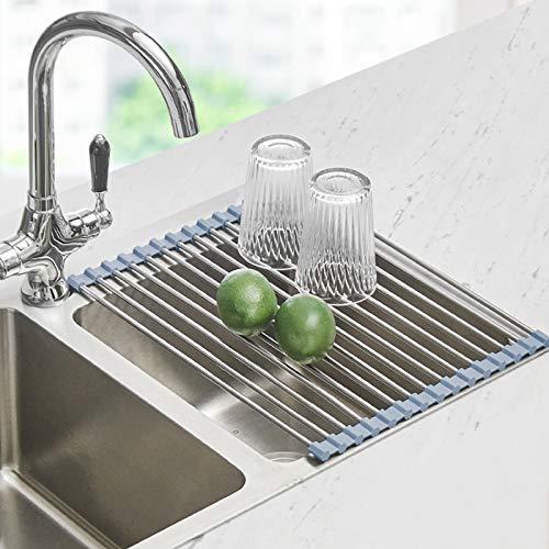 Seropy Kitchen Roll Up Sink Dish Drainer