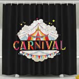 custom carnival - HVSAA Custom Waterproof Bathroom Circus Tent Carnival Birthday Party Shower Curtain Polyester Fabric Shower Curtain Size 60 X 72inch