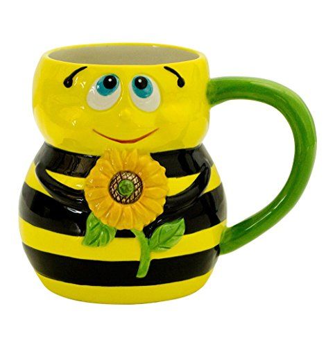 Boston Warehouse Earthenware 16 Ounce Bee Mug (Dinnerware Bee Bumble)