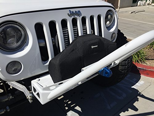 Bartact - Winch Cover for WARN ZEON 10 and 12 - will not fade (Black Fabric)
