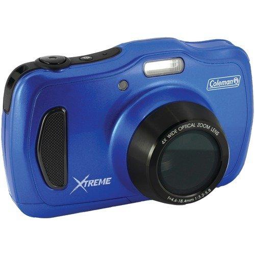Coleman 20.0 Mega Pixels Waterproof HD Digital Camera with 4x Optical Zoom & 3'' LCD Screen, Blue (C30WPZ-BL) by Coleman