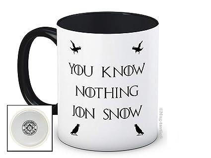 You Know Nothing Jon Snow - Game of Thrones - Taza de café ...