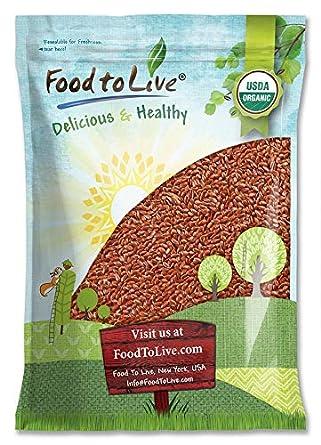 Semillas de lino orgánicas marrones enteras: Amazon.com ...