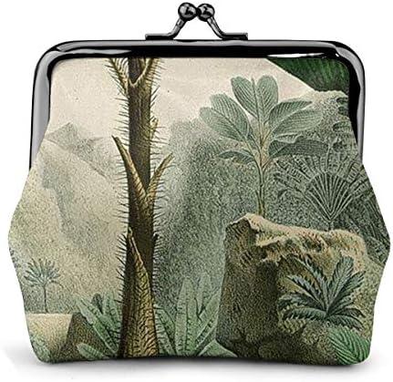 ホワイトサン がま口 財布 小銭入れ 熱帯ジャングルパームス 11.5cm×10.5cm×3cm レザー 小物入れ コインケース