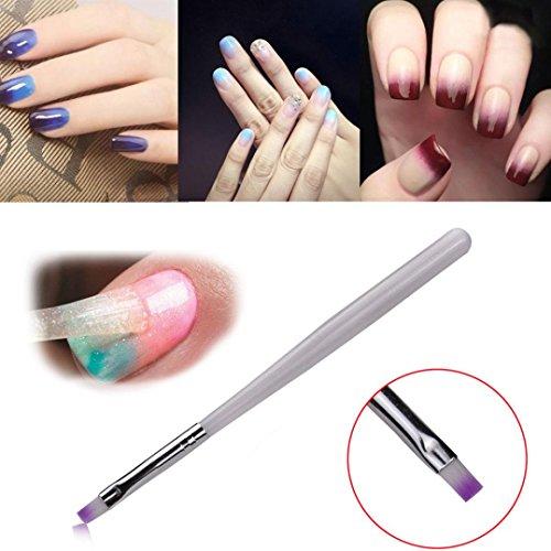(Women's Nail Art Brush Pen, Iuhan Acrylic Design 3D Painting Drawing UV Gel DIY Brush Pen Tool Nail Art Set Tool (White))
