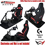 GT Omega ART Racing Simulator Cockpit RS6 Seat Suitable for the Logitech G27, G29, G920 , G25 Gaming wheel