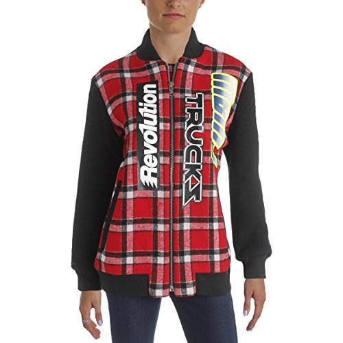 Marc by Marc Jacobs Womens Wool Plaid Varsity Jacket Red XS/S