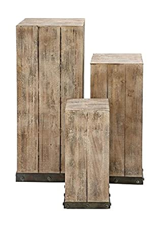 Deco 79 Mastercraft Wood Pedestal Set For Your Decor Items