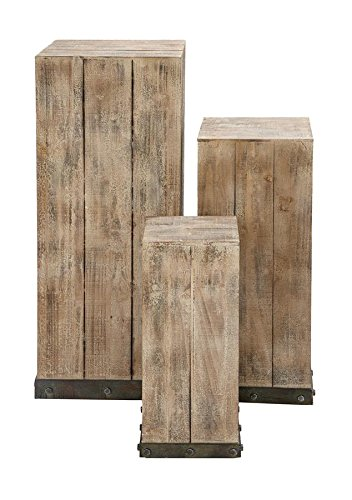 Amazon.com: Deco 79 Mastercraft Wood Pedestal Set for Your Decor ...