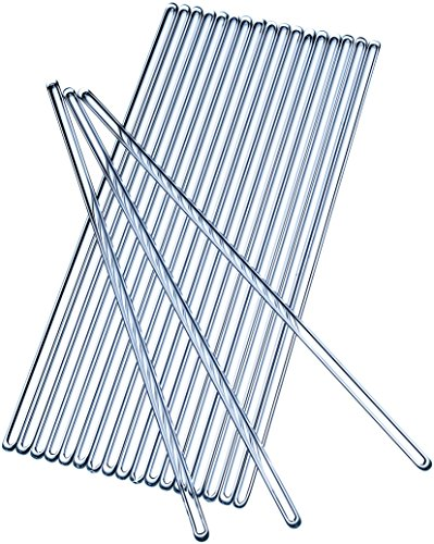 Glass Stirring Rod 250 mm - Stirring Rods 9.8 inch - Pack of 20 Stirrers - Glass Stirrer - Stirring rod