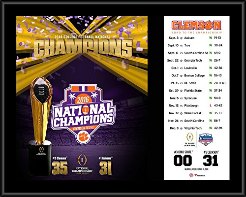 - Clemson Tigers College Football Playoff 2016 National Champions 12