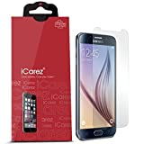 iCarez Anti-Glare Anti-Fingerprint Screen Protector for Samsung Galaxy S6, 3-Pack - Retail Packaging