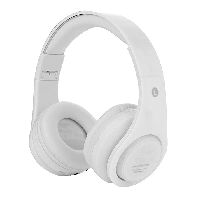 Dan James Products White Colour Super Bass Bluetooth Headphones Wireless Bluetooth Headset Amazon In Electronics