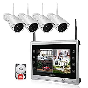 Amazon Com Luowice Audio Wireless Security Camera System