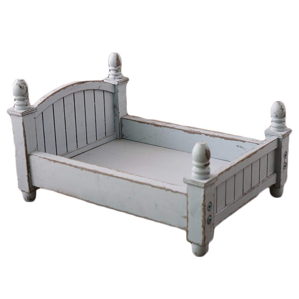 Baby Photography Props Wood Bed Newborn Photo Shoot Posing Prop Basket (K)