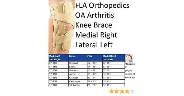 b7695562af Amazon.com: FLA Orthopedics 37-151LGBEG Oa & Arthritis Knee Brace Right - Lateral  Left Beige, Large: Health & Personal Care