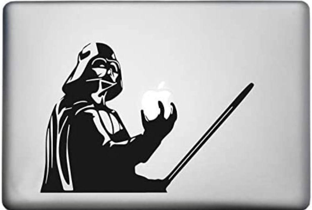 Skyline Designs Starwars Darth Vader Laptop Decal Black viynl 10.5x7.5