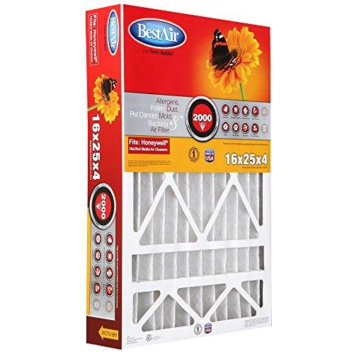 BestAir HW1625-11R Furnace Filter, 16'' x 25'' x 4'', Honeywell Replacement, MERV 11 by BestAir