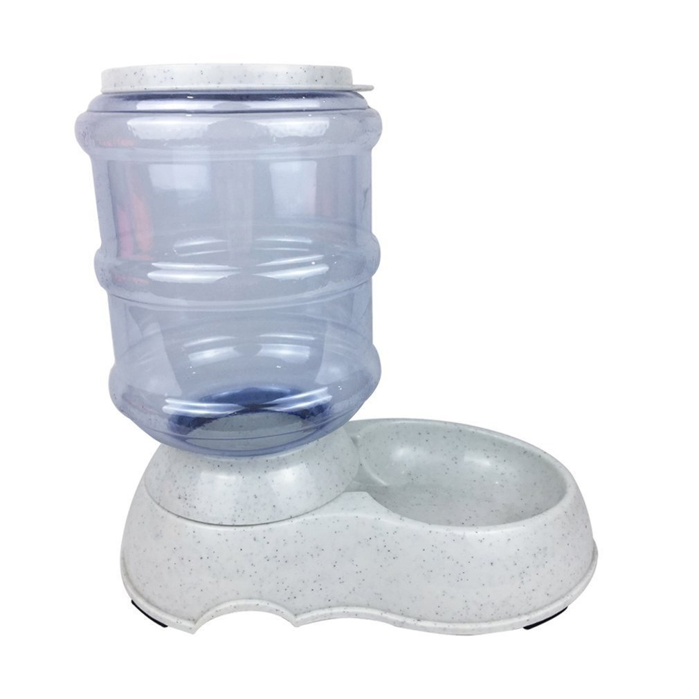 Gugutogo Utensile portatile per alimenti per cani e mangime per cani cibo per cani per gatti 3.5L (Colore: grigio)