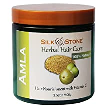 Silk & Stone Amla Powder (Indian Gooseberry) High Contents Vitamin C, Great Nutrition to Give you Healthy Hair