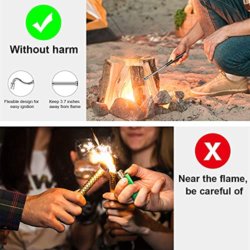 VICHYIE Electric Lighter Long with Multi-Protect Safety Systems /& Flexible Neck /& LED Battery Display Rechargeable Lighter for Scented Candle Camping Cooking BBQs Fireworks Black Candle Lighter