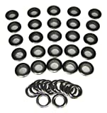 25pc. Black 1-inch (outside diameter) Screened Grommets with Washers
