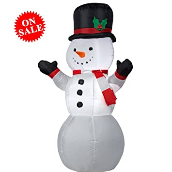 amazoncom pop up snowman decor inflatable christmas holiday decorations airblown toy blow up accesssory indoor outdoor yard home plastic white ebook by - Yard Plastic Christmas Decorations Outdoors