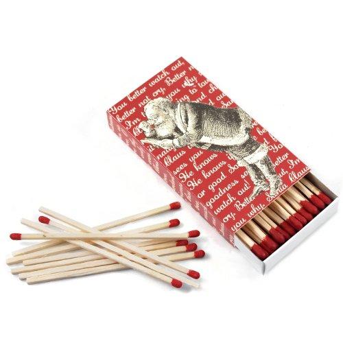 HomArt Long Decorative Matches in Christmas Carols Box, Set of 2