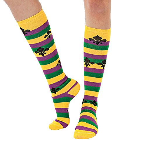 Mardi Gras Knee Socks Accessories