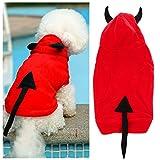TTnight Devil Hoodie Cat Dog Clothes Pet Coat Puppy Costume Winter Xmas Halloween