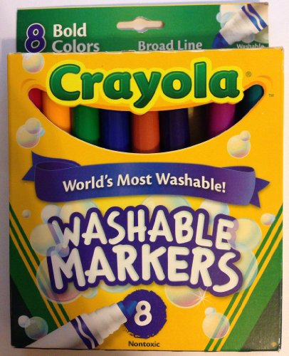 Crayola Washable Markers - Broad Line - 8 Bold Colors - Nont