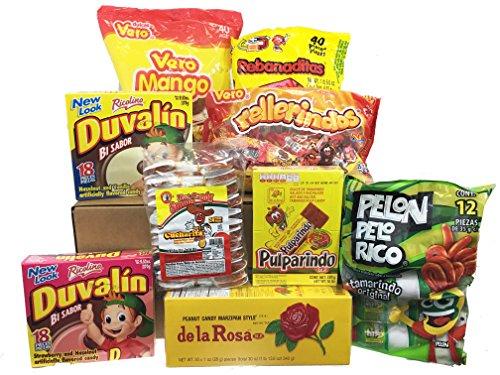 Mexican Candy Bundle - Duvalin, De La Rosa, Rebanaditas, Rellerindos, Pulparindo, Vero Mango, Cucharita, Pelon Pelo Rico ()