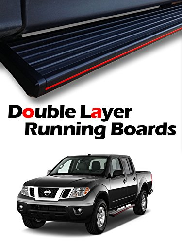 """MPH Auto 5.5"""" Running Boards Custom Fit 2005 2006 2007 2008 2009 2010 2011 2012 2013 2014 2015 2016 2017 05-17 Nissan Frontier CREW CAB; Black Side Step Bar (2pcs; with Mounting Bracket Kit) mj-009-r"""