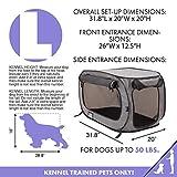 SportPet Designs Large Pop Open Kennel, Portable