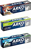 Arko Shaving Cream Variety Pack, Extra Fresh/Extra Performance/Moist, 3 Count
