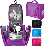 Bago Hanging Toiletry Bag For Men & Women - Toiletries Travel Organizer (Purple)