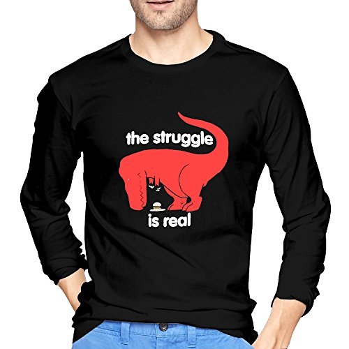 young-men-the-struggle-is-real-dinosaur-hungry-cherished-o-neck-long-sleeve-t-shirt