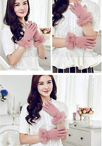 Mittens Signora Pink Thickened Adelina All Gloves Korean La Warm Winter Cute Elegante Finger 6q5wP7gwxp