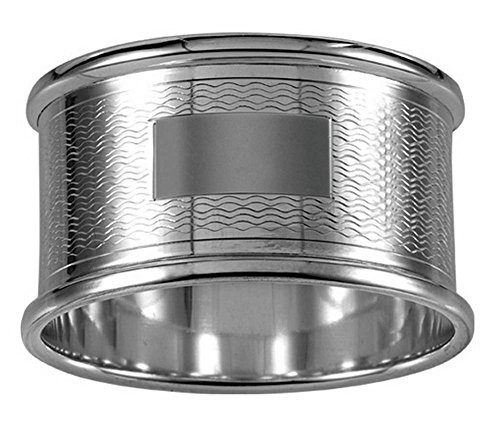 Silver Engraved Round Napkin Ring by Orton West by Orton West