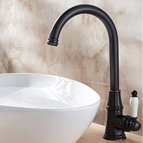 Diongrdk Basin Faucet All Copper Antique Europe Type Restoring Ancient Ways Single Stage Basin Bibcock of Cold Hot Water Tap