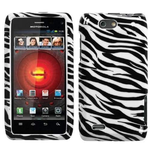 (Zebra Skin Phone Protector Faceplate Cover For MOTOROLA XT894(Droid 4))