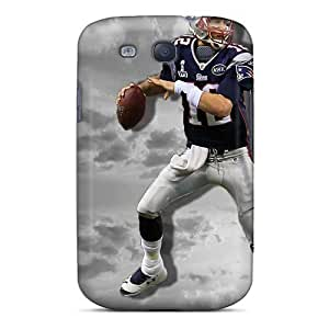 Durable Defender Cases For Galaxy S3 Tpu Covers(new England Patriots)