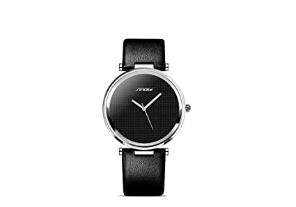 Relojes de Hombre/Mujer Unisex Super Slim Luxury Casual Watches Quartz Analog RE0051 (Black