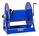 Coxreels Large Capacity/Volume Hose Reel - Model# 1185-1124, 1-1/2'' Hose ID, Blue,50' Length