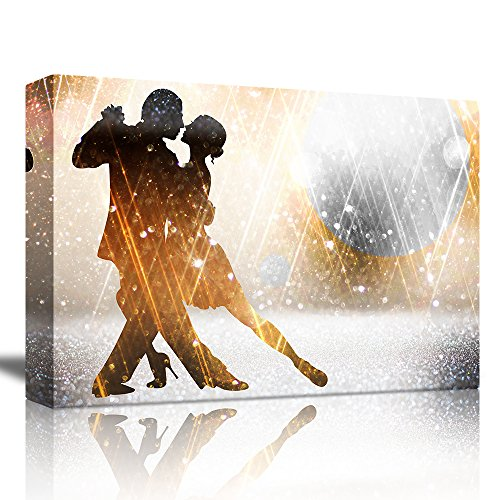 wall26 - Tango Dancers on a Shiny Studio Background - Canvas Art Home Decor - 16x24 inches