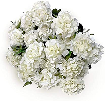 Kirifly Artificial Flowers Fake Silk Mini Hydrangea Bulk Peony Flowers Wedding Decoration Bouquet Decor Plastic Flower Arrangements Table Centerpieces 3 Packs White Amazon Sg Home