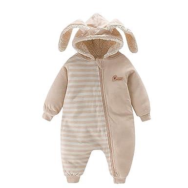 41bf5b7fd Amazon.com  Feidoog Winter Baby Boys Girls One-Piece Fleece Thick ...