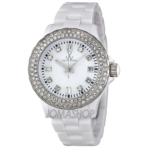 Toy Watch Plasteramic White Crystal Womens watch #PCS22WH