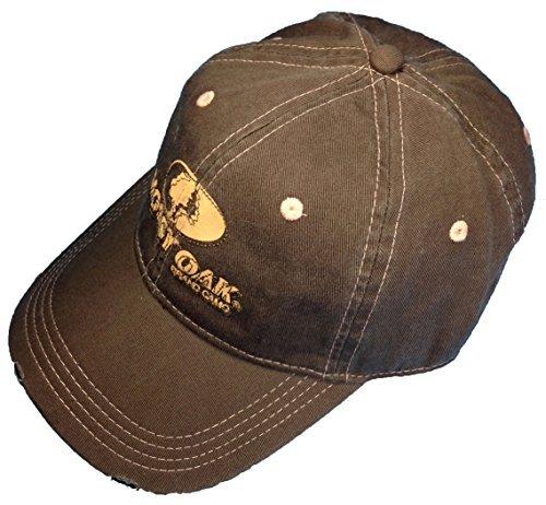 b999be10330b5 Amazon.com  Brown Mossy Oak Camo Casual Cap Frayed Look With Mossy Oak Camo  Logo  Sports   Outdoors