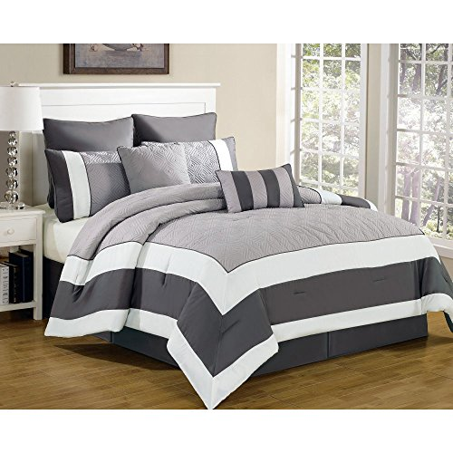 Duck River Textiles SPAIN 3173=1 Spain 8Pc Comforter Set King Sandstone-Smoke,Sandstone/Smoke by Duck River Textiles
